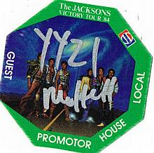 JACKSONS VICTORY TOUR GUEST PASS.