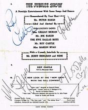 ROY CASTLE,MARION RYAN,AND JOE BAKER SIGNED THE JUBILEE SHOW 1959 PROGRAMME