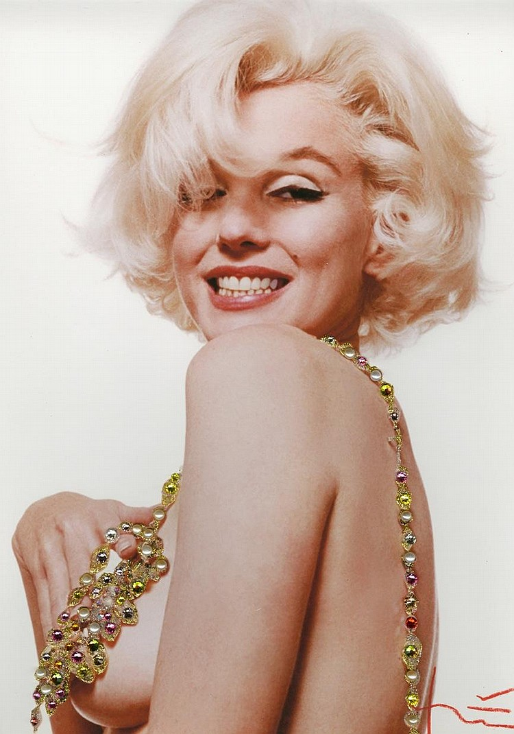 Bert Stern Marilyn Jeweled Boob Smile Jeweled With Citrines