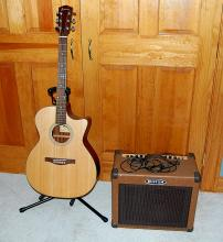 Eastman Guitar and Kustom Amp