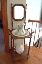 Vintage Washstand, Pitcher, Chamber-pot