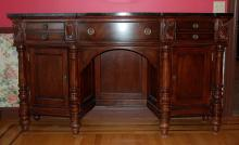 Mahogany Sideboard with Marble Top