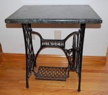 Marble top Iron Singer Sewing Table