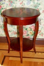 Mahogany Table with Star Inlay