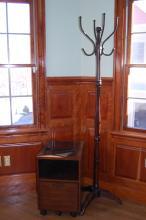 Coat Rack & Filing Cabinet