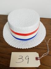 VINTAGE BARBERSHOP QUARTET SKIMMER HAT