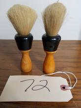 LOT OF 2 - PURE BRISTLE SHAVING BRUSHES