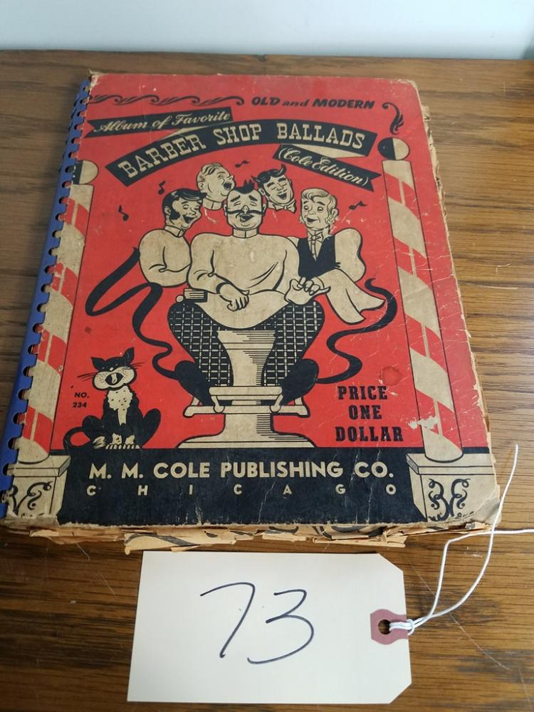 VINTAGE BARBERSHOP BALLADS SONG BOOK