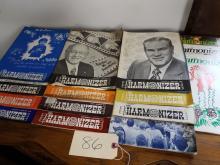 VINTAGE LOT OF 1972-1979 THE HARMONIZER MAGAZINES