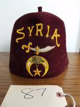 VINTAGE SHRINERS HAT - SYRIA TEMPLE