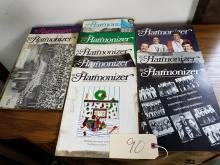VINTAGE LOT OF 1980-1984 THE HARMONIZER MAGAZINES