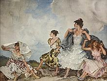 SIR WILLIAM RUSSELL FLINT, RA, PRWS (British 1880-1969) A LITHOGRAPH,