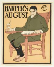 "EDWARD PENFIELD (American 1866-1925) A PRINT, ""Harper's: August,"" 1898,"
