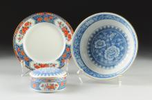 THREE TIFFANY & CO. IMARI STYLE PORCELAIN WARES, 20TH CENTURY,