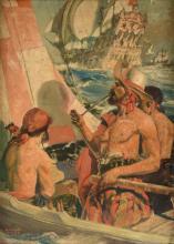HERNANDO VILLA (American 1881-1952) A PAINTING,