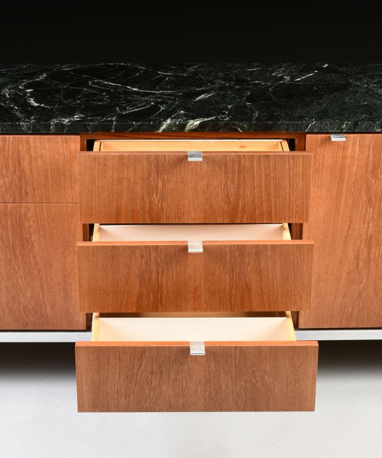 Florence Knoll American B 1917 A Marble Topped Walnut And