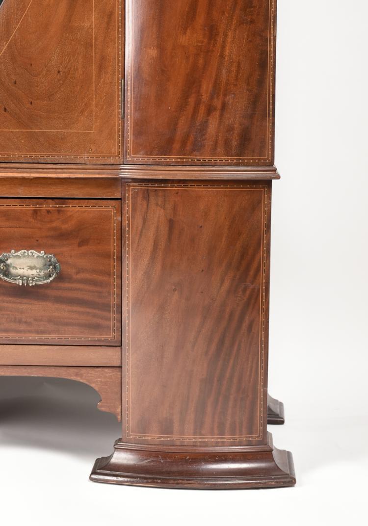 an edwardian maple co mahogany satinwood and ebonized h. Black Bedroom Furniture Sets. Home Design Ideas