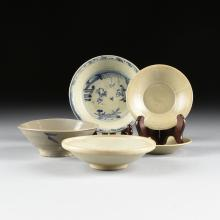 A GROUP OF FIVE SOUTHEAST ASIAN CELADON WARES, 20TH CENTURY,