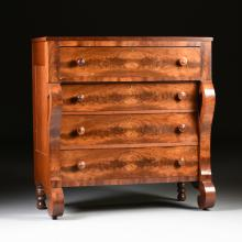 AN AMERICAN CLASSICAL STYLE MAHOGANY DRESSER, CIRCA 1840-1850,