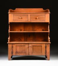 A PENNSYLVANIA CHERRY AND PINE SIDEBOARD/CABINET, CIRCA 1840 - 1860,