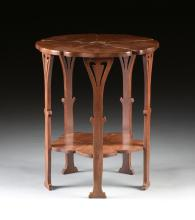 AN ART NOUVEAU STYLE CARVED MAHOGANY SIDE TABLE, EARLY 20TH CENTURY,