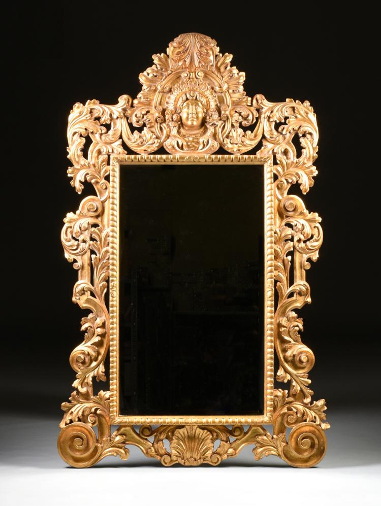 A large baroque style giltwood mirror modern for Modern baroque style