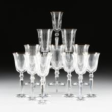 A SET OF THIRTEEN WATERFORD CHARLEMONT PATTERN ETCHED AND CUT CRYSTAL STEMS, IRELAND, CIRCA 1996-2012,