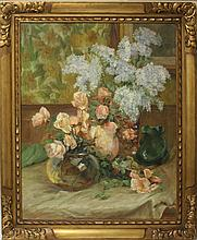 ALEXANDRE TIELENS (1859-1959), OIL ON CANVAS