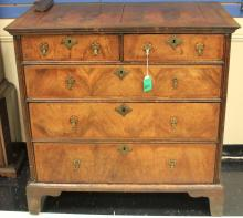 WILLIAM AND MARY WALNUT INLAID DRESSER