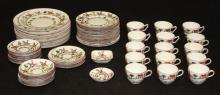 STAFFORDSHIRE PORCELAIN DINNER SERVICE, 67 PCS.