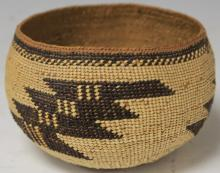 EARLY NATIVE AMERICAN WOVEN BASKET