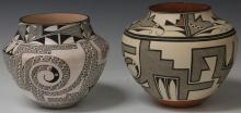 LOT OF (2) ACOMA PAINTED JARS
