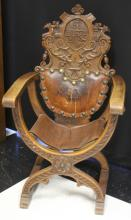VICTORIAN WALNUT CARVED AUSTRIAN ARM CHAIR