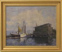 G.VICTOR GRINNEL, OIL ON BOARD