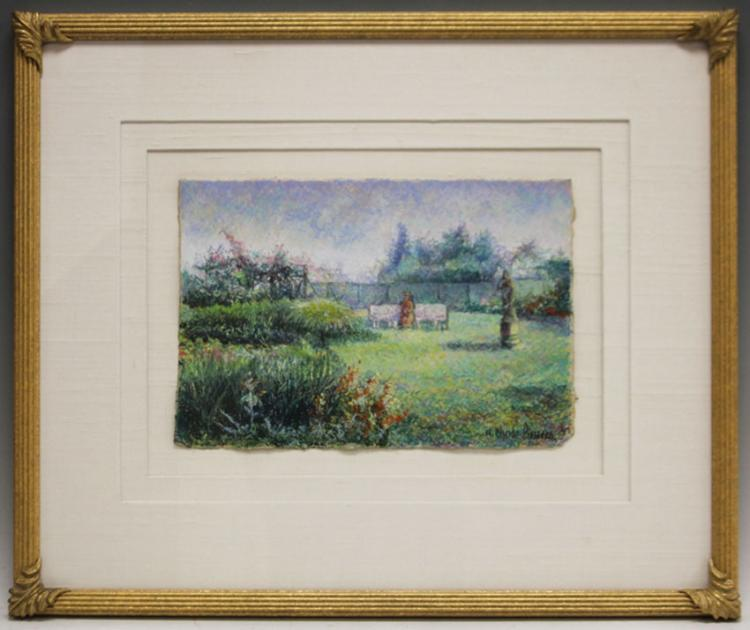 H. CLAUDE PISSARRO, PASTEL ON PAPER