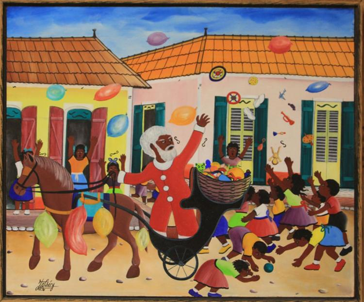 J.R. CHERY, HAITIAN ARTWORK, OIL ON MASONITE