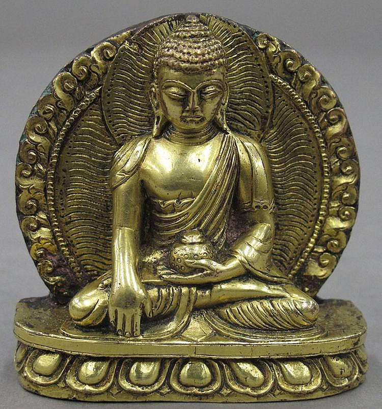 GOLD GILDED BUDDHA height- 2 1/2