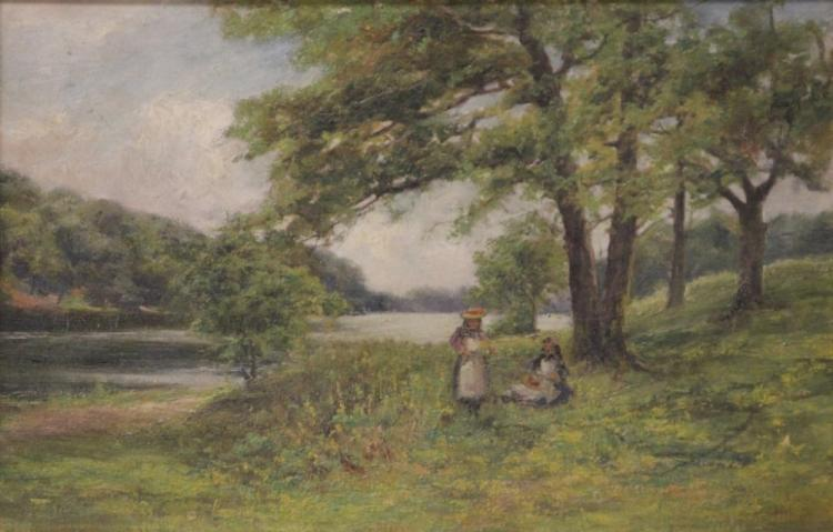 MABEL HILL (1872-1956), OIL ON CANVAS