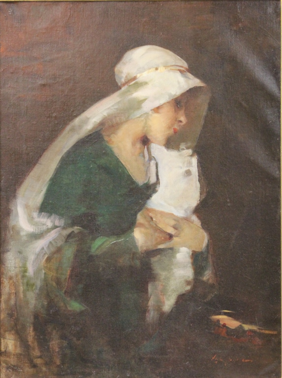 EARLY 20TH CENTURY PORTRAIT, OIL ON CANVAS