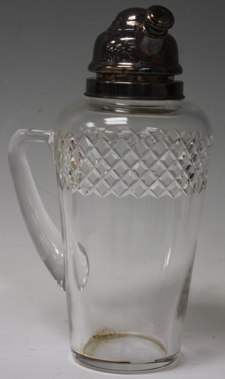 VINTAGE STERLING SILVER CUT GLASS DECANTER