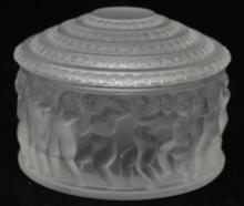 LALIQUE CRYSTAL COVERED BOX
