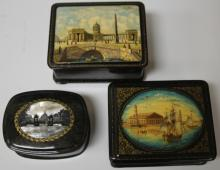 LOT OF (3) VINTAGE RUSSIAN BOXES