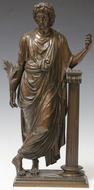 EUGENE ANTOINE AIZELIN (1821-1902), BRONZE STATUE