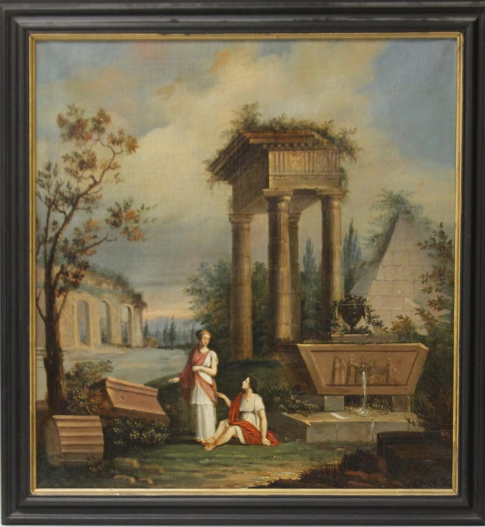 FRENCH 18TH/19TH CENTURY OIL ON CANVAS