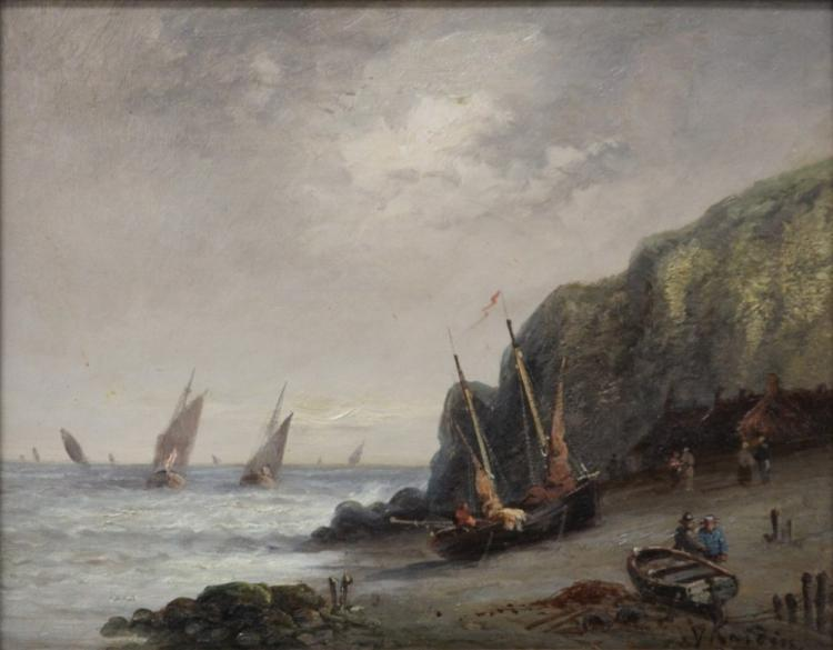 FRENCH OIL ON BOARD, 19TH CENTURY