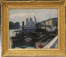 GERMAIN JACOB (20TH CENTURY), OIL ON BOARD