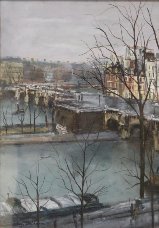 SERGE BELLONI (1925-2005), OIL ON BOARD