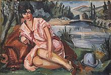 ANDRE FAVORY (1888-1937), OIL ON CANVAS