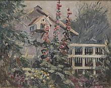 KARL SCHMIDT (1890-1962), OIL ON BOARD
