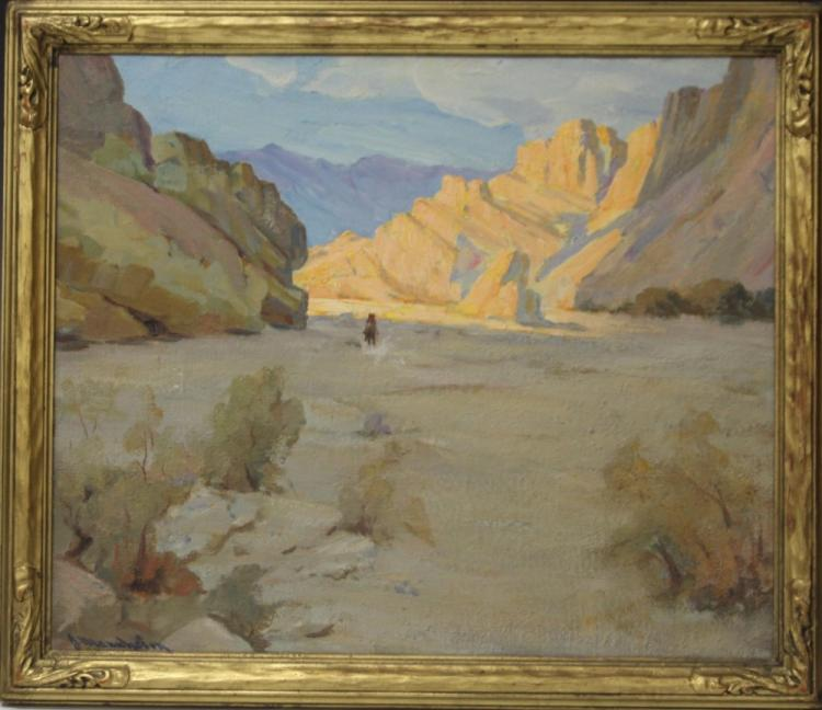JEAN MANNHEIM (1863-1945), OIL ON BOARD